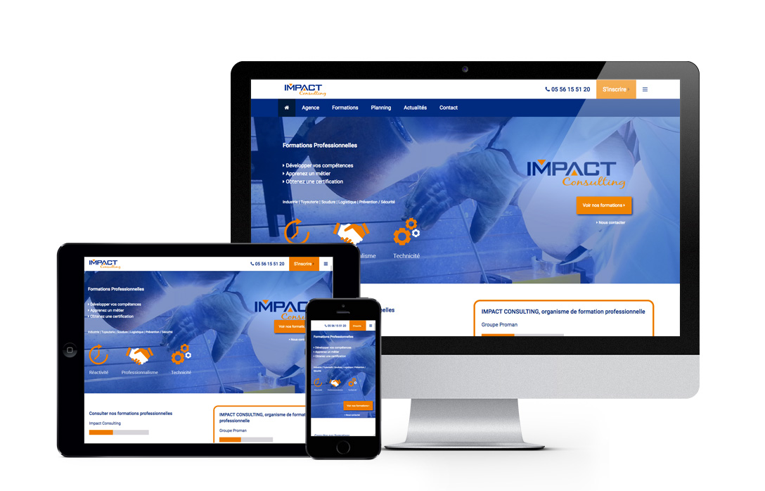 site internet Impact Consulting